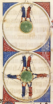 An actual illustration from 1246 clearly showing a round Earth